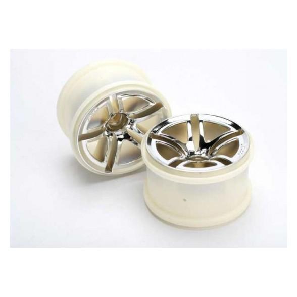 Wheels, Twin-Spoke 2.8'' (chrome) (nitro front) (2)
