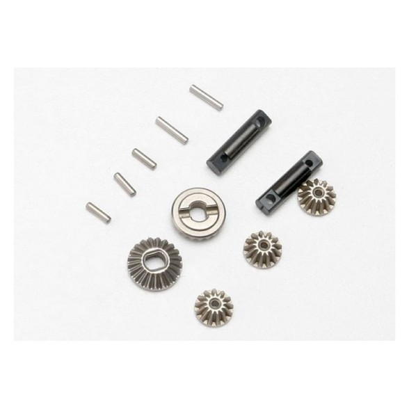 Gear set, differential (output gears (2)/ spider gears (3))/ differential output shafts (2)/ 1.5x6mm