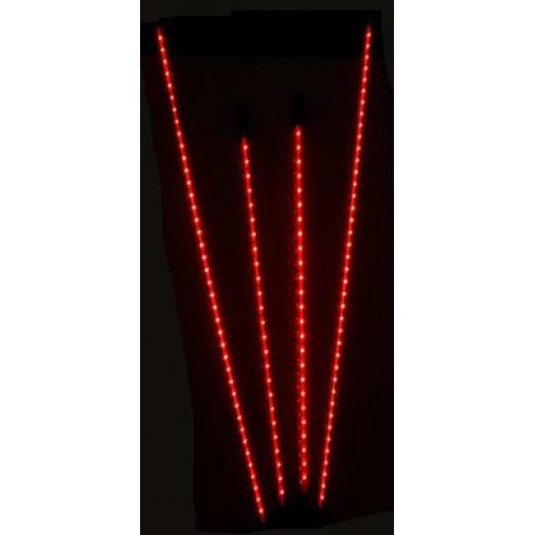 Неоновая подсветка (4 полосы) питание от кроны (9в) КРАСНАЯ