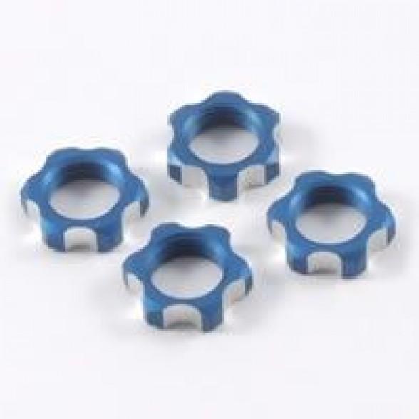 Гайки колес 1/8 - V2 Wheels Nuts 1.00mm Thread - Blue (4шт)