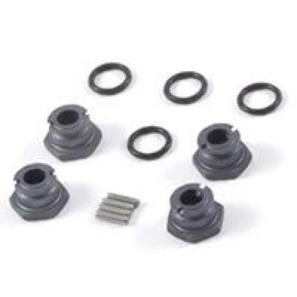 Хабы колесные - 1/10th Wheel Hubs +2mm - Grey (4шт)