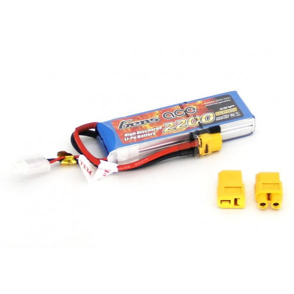 Аккумулятор Li-Po - 7.4В 2200мАч 25C (2S1P)