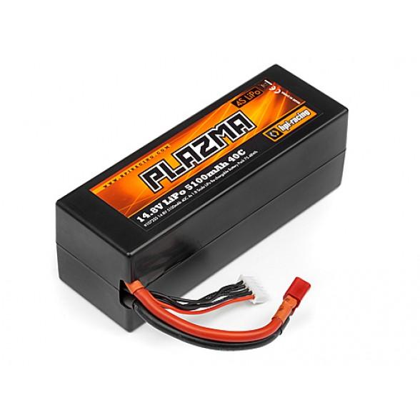 Аккумулятор Li-Po силовой PLAZMA 14.8V 5100mAh 40C (Deans Plug)