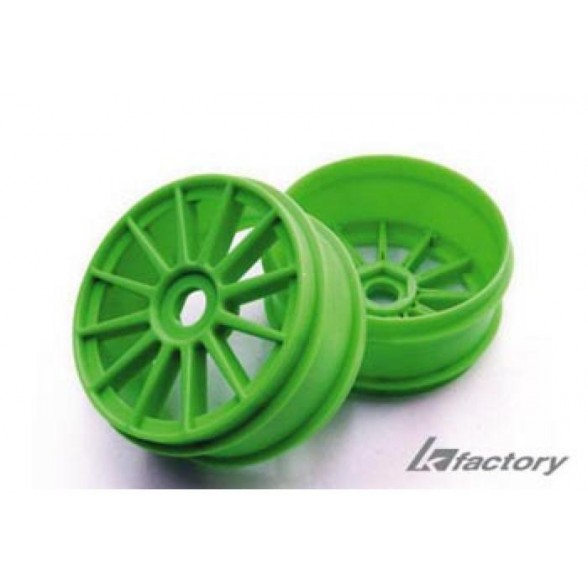 Диски багги 1/8 - (12 спиц / 17mm / Green/