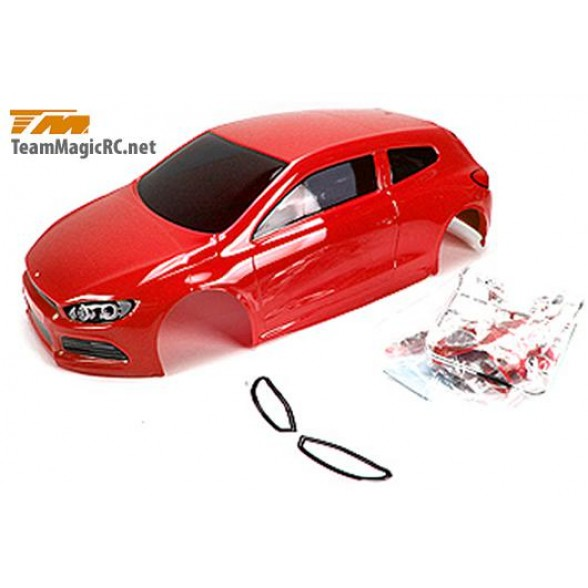 Кузов туринг/дрифт 1/10 с аксессуарами (195mm SRC Red) окрашен / с отражателями